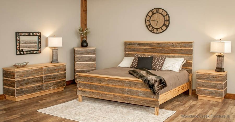 New Design Barn Wood Bedroom Furiture