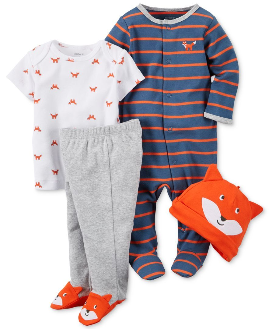1bfab941f2 Carter s Baby Boys  4-Pc. Fox Hat