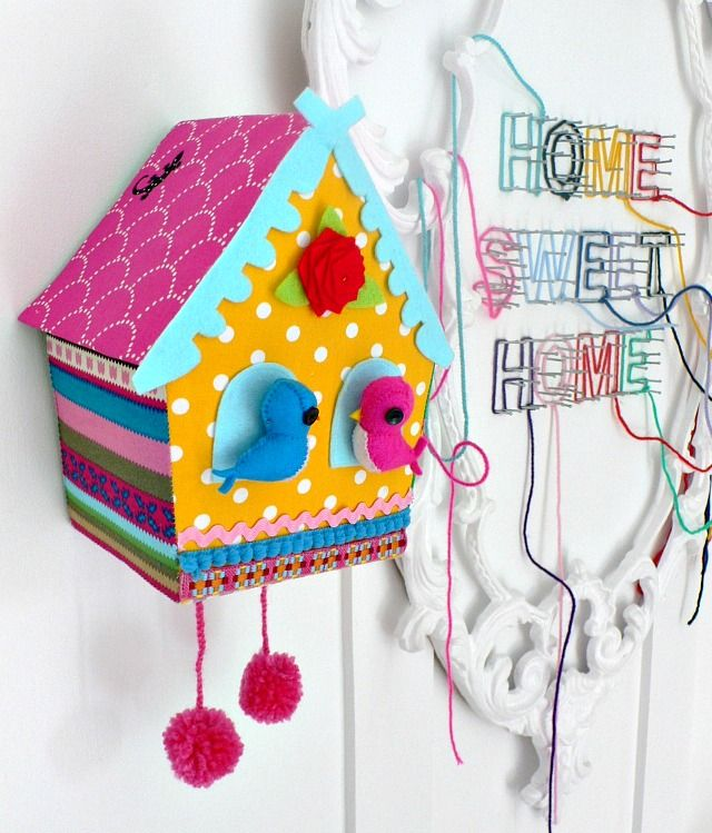 homemade birdhouses!