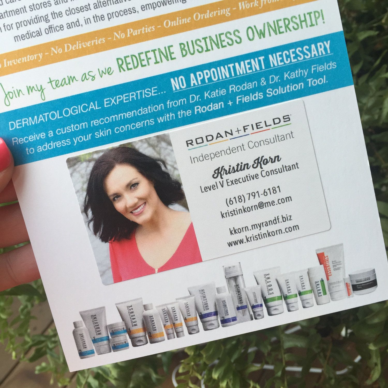Rodan And Fields Business Card