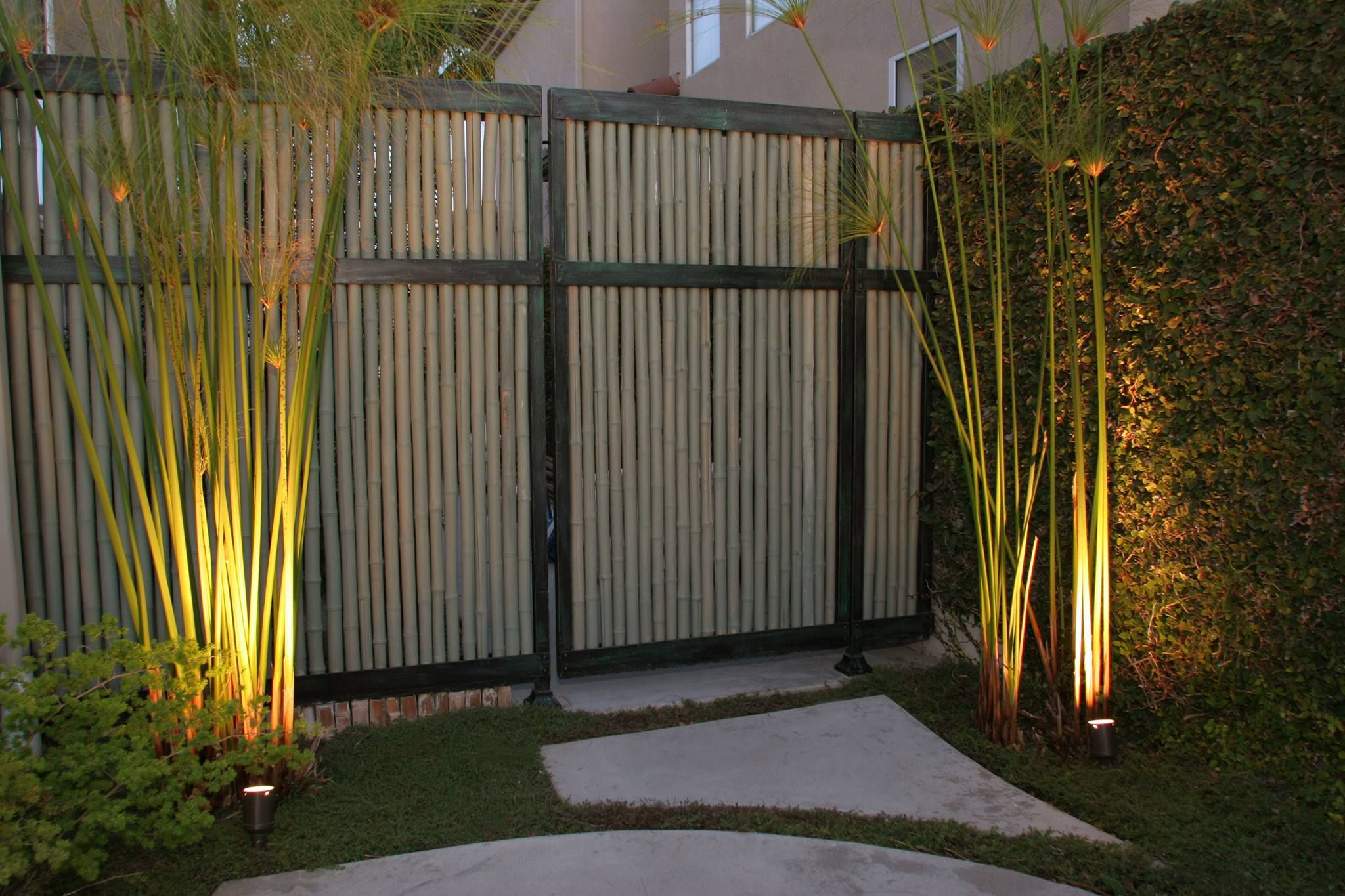 Solena Landscape Asian Contemporary Gate Detail With Bamboo