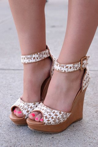 Crochet Lace Wedge - Madison 120 | UOIOnline.com: Women's Clothing Boutique