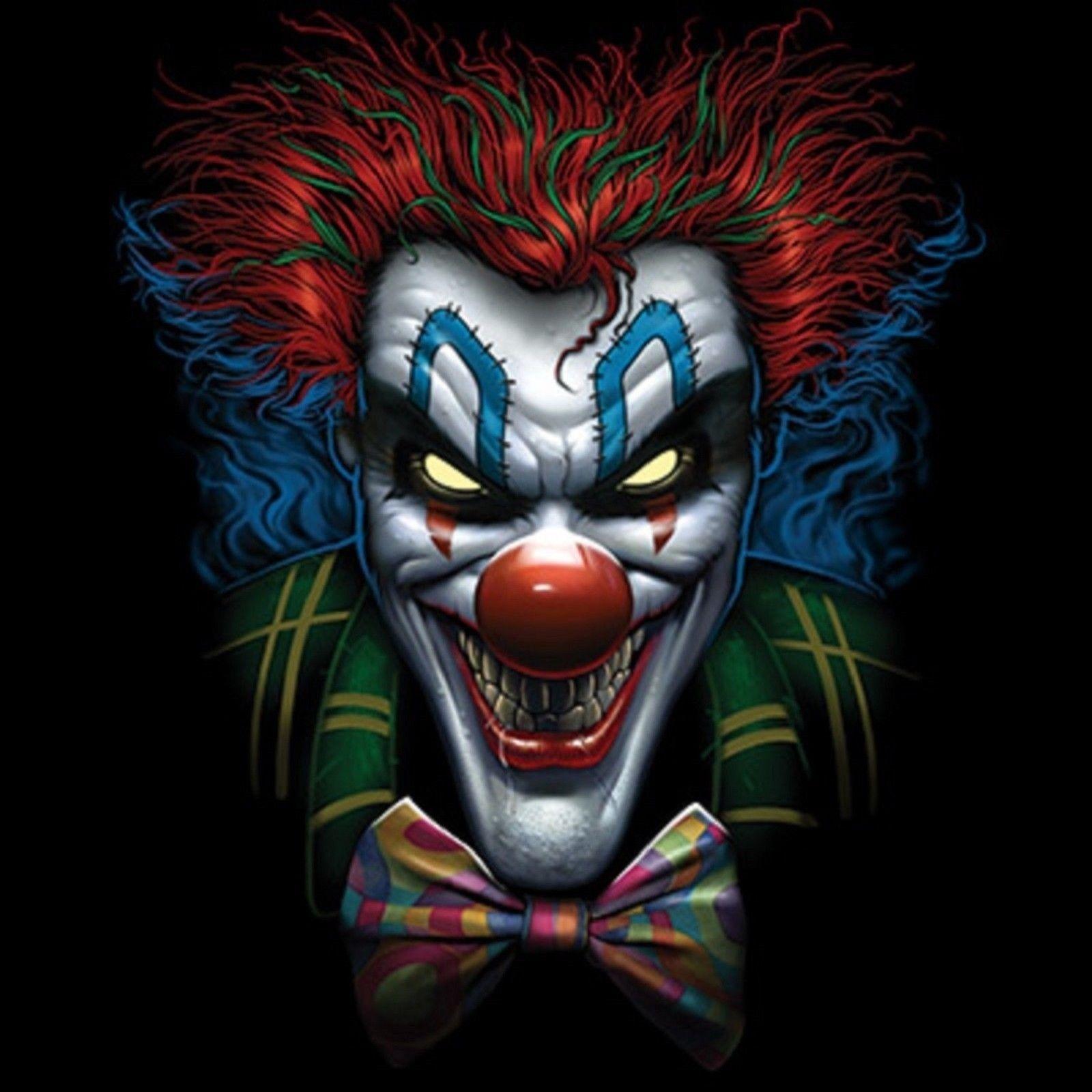 Psyco Clown T Shirt Pick Your Size Youth Medium To 6 X Large Clown Horror Creepy Clown Clown Pics
