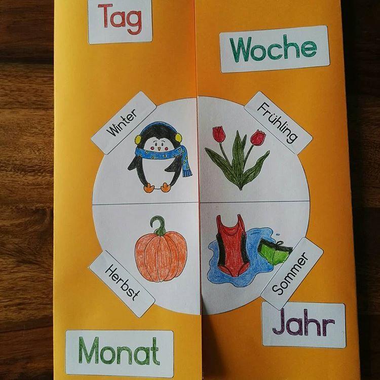 """Julia Djuga on Instagram: """"Wie sich die Bilder gleichen. Oder Lapbook, die 2. Exakt vor 3 Jahren habe ich die erste Version zum Thema Kalender/Jahreszeiten gestaltet.…"""""""