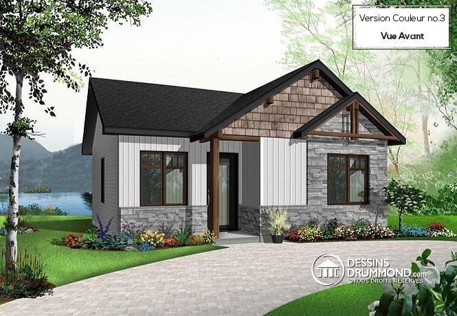 W1704 - Maison contemporaine, inspirations candinave, bon prix - plans de maison moderne