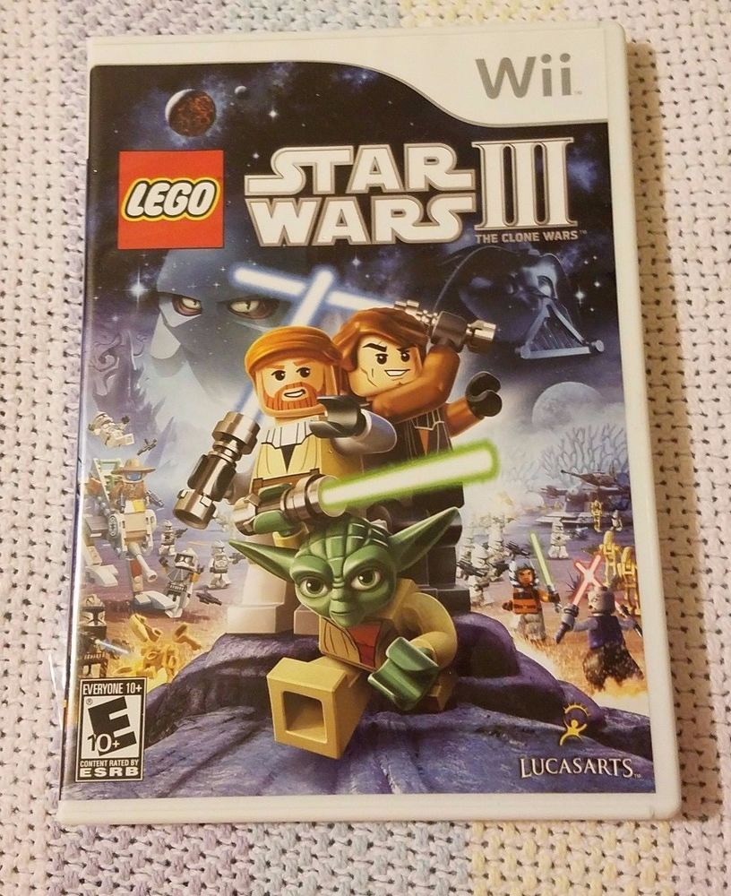 Nintendo Wii Lego Star Wars III Video Game Complete w/ Instructions Manual  Book #Wii