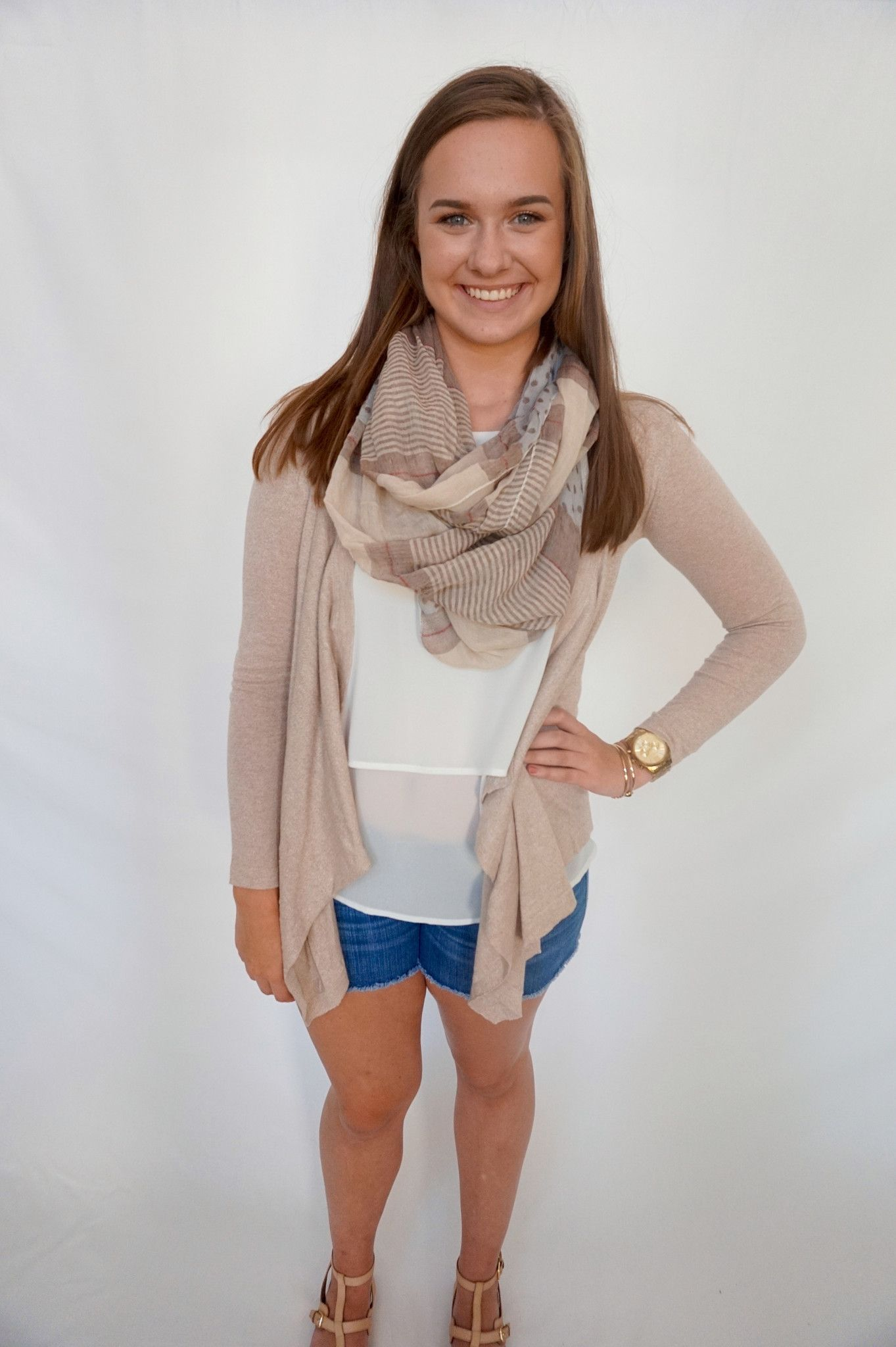 all wrapped up infinity scarf- tan