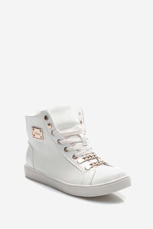 Stylowe Trampki Sneakersy Biale Tenisowki Sneakers Okulary Przeciwsloneczne