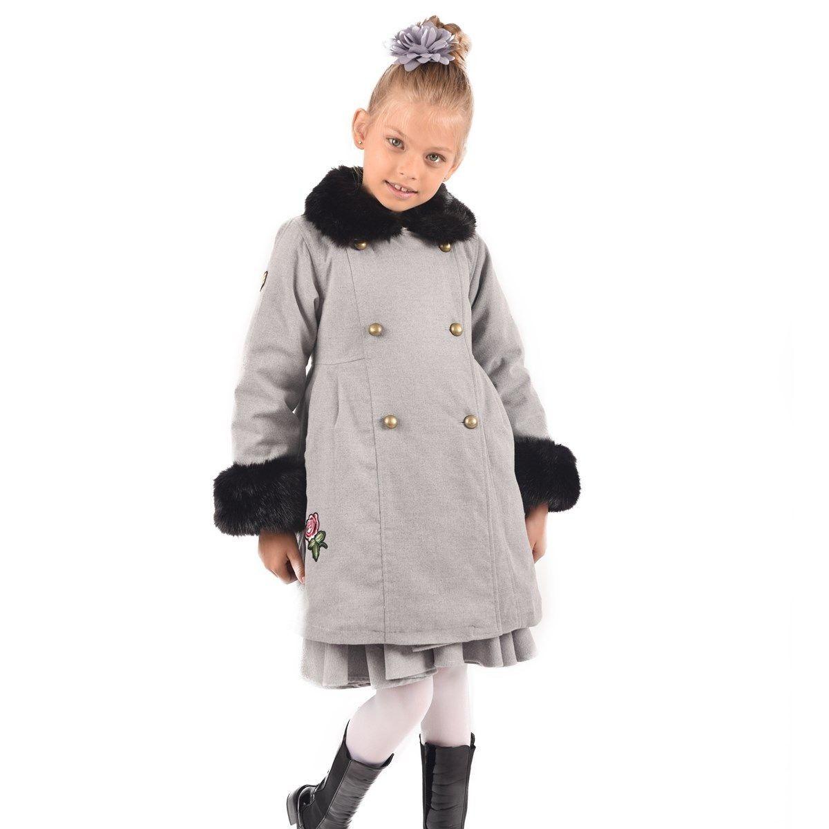 différents types de mode de premier ordre différemment Manteau Hiver Fille En Laine Col Et Poignets Imitation ...