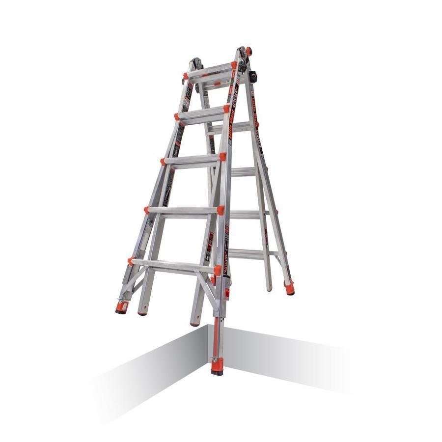 Little Giant Leveler Aluminum 22 Ft Reach Type 1a 300 Lbs Capacity Telescoping Multi Position Ladder Lowes Com Little Giants Ladder Ladder Leveler
