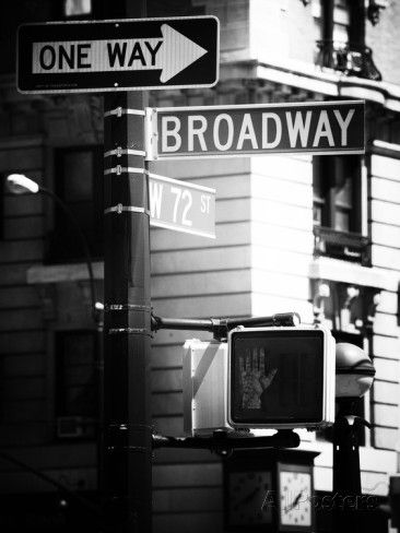 Urban sign broadway manhattan new york united states usa old black and white photography photographic print by philippe hugonnard allposters ca