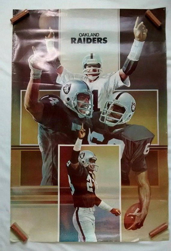 Vintage Original 1978 Oakland Raiders NFL Football Poster  9e37412594fee