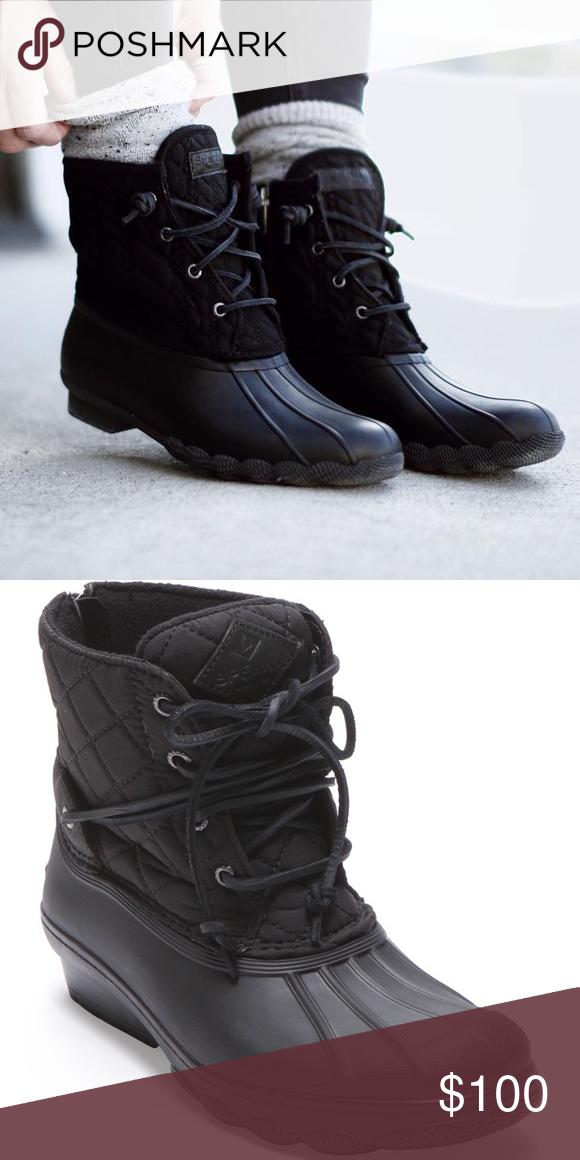 Sperry Black Duck Boot   Boots, Duck