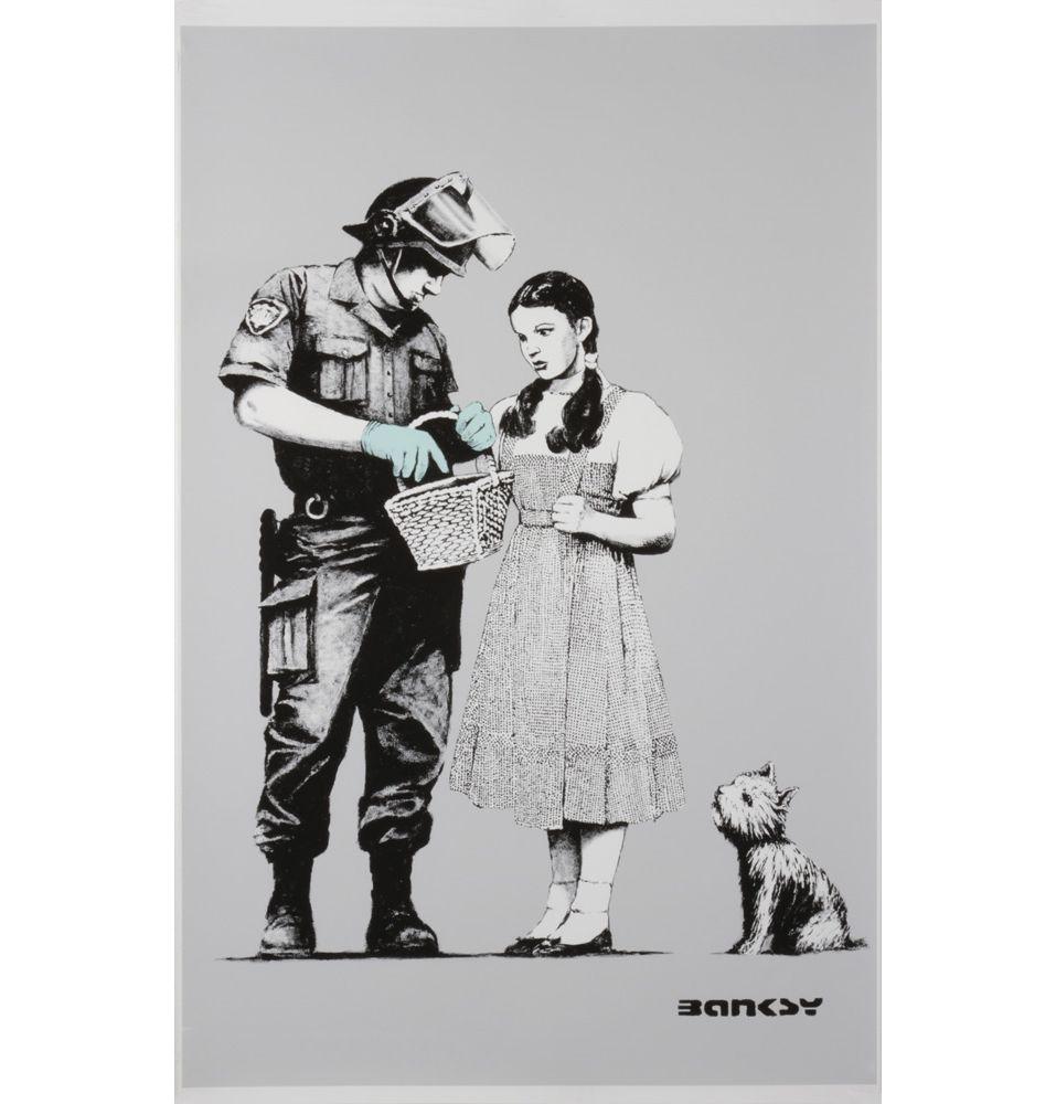Banksy canvas print dorothy and the policeman matt blatt
