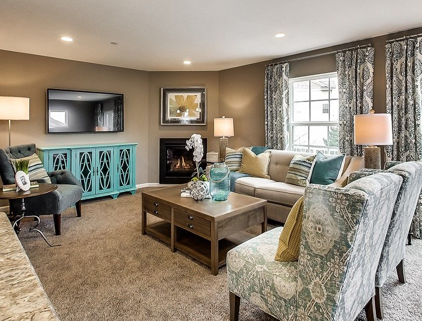 Gorgeous living room decor in this ramsey minnesota town home by d r horton findyourhome for for The living room minneapolis mn