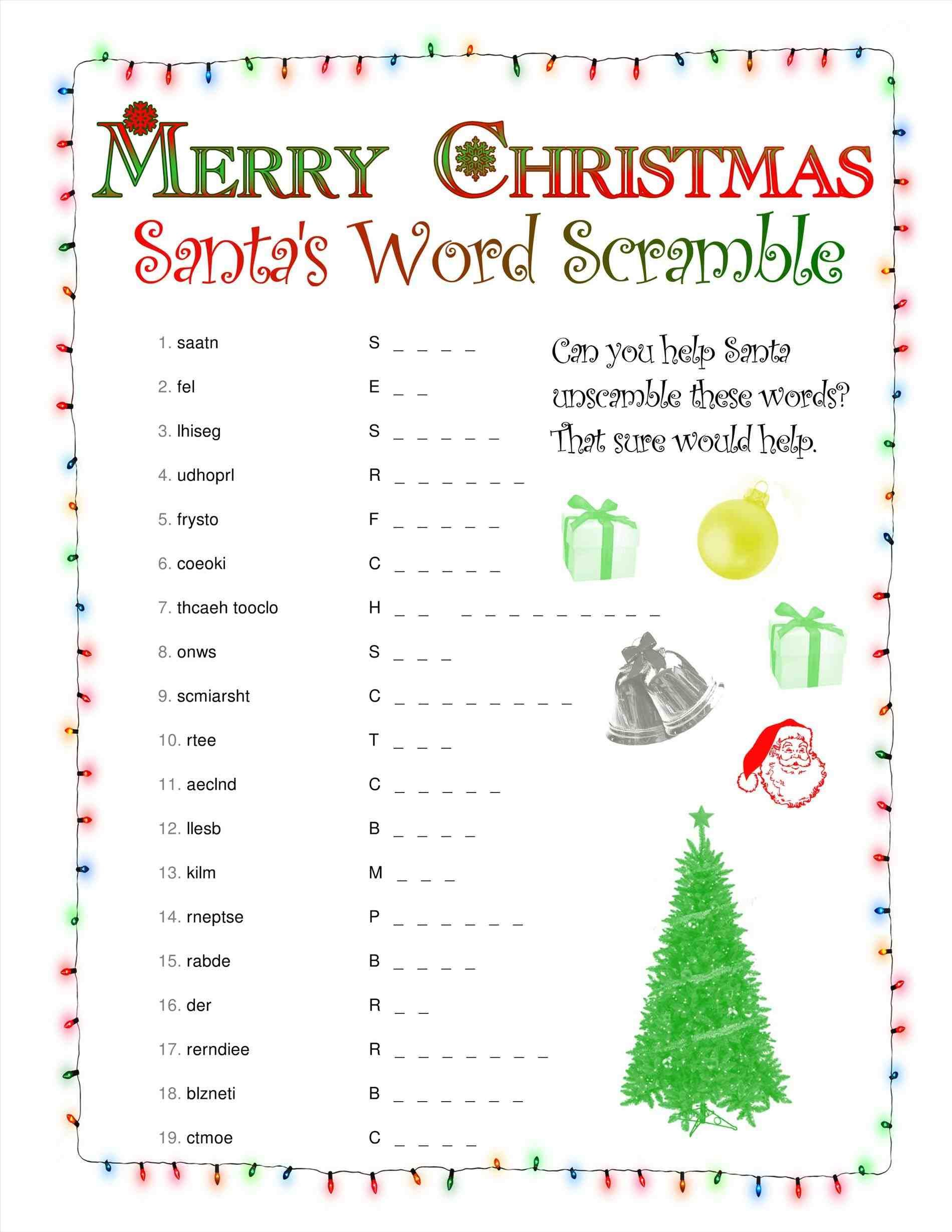 Christmas Template For Word Simple New Post Printable Christmas Word Scramble  Xmast  Pinterest .