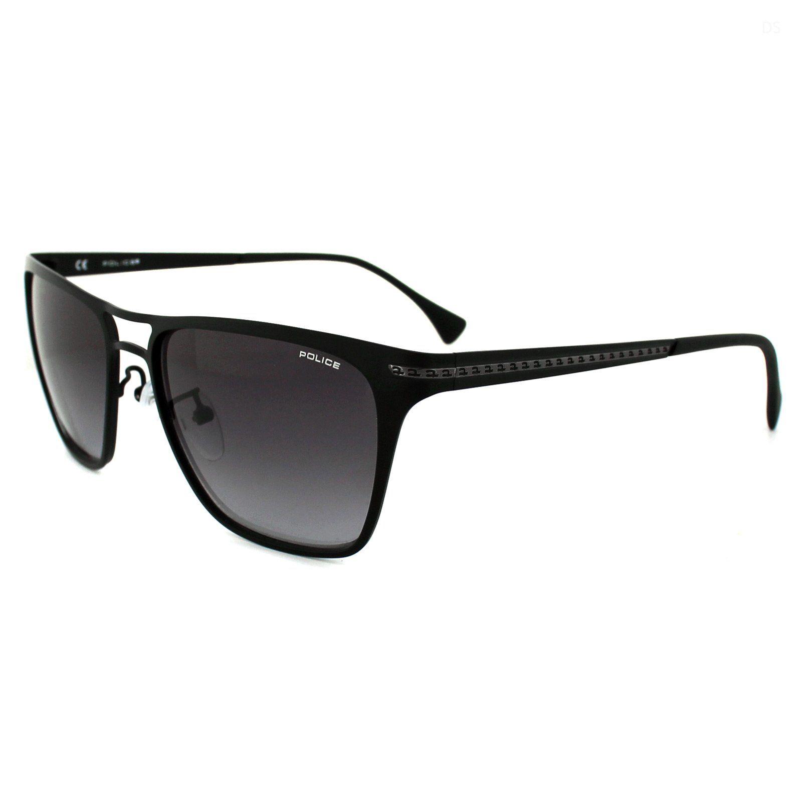 Police Sunglasses S 8751 0531 Metal Mat black Gra nt grey black