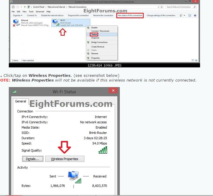 Find Wifi Password On Windows 8 1 Find Wifi Password Wifi Password Wireless Networking