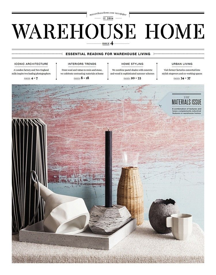 Warehouse Home Issue Four Interior Design Magazine Front Cover Photography By Oliver Perrott Styling