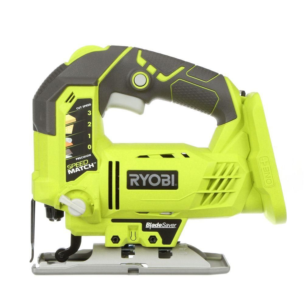 Ryobi 18 volt one orbital jig saw tool only cuttings this ryobi one plus orbital jig saw provides cutting performance equivalent to a corded with portable convenience of battery power keyboard keysfo Image collections