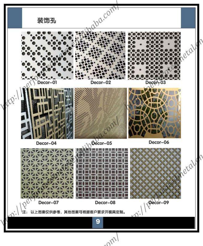 Перфорированные металлические панели для окно