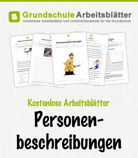 kostenlose arbeitsbl228tter personenbeschreibungen deutsch