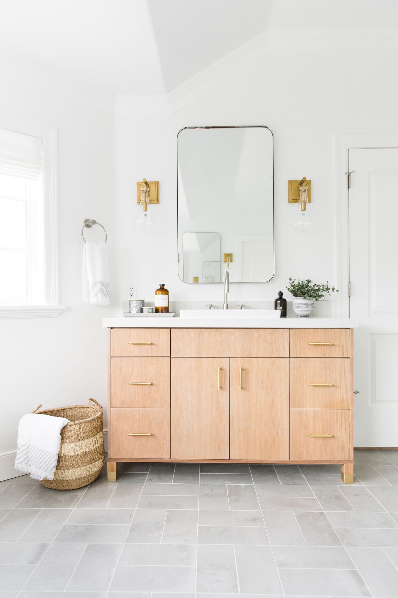 Photo of Remodel Crisp & Modern Master bathroom