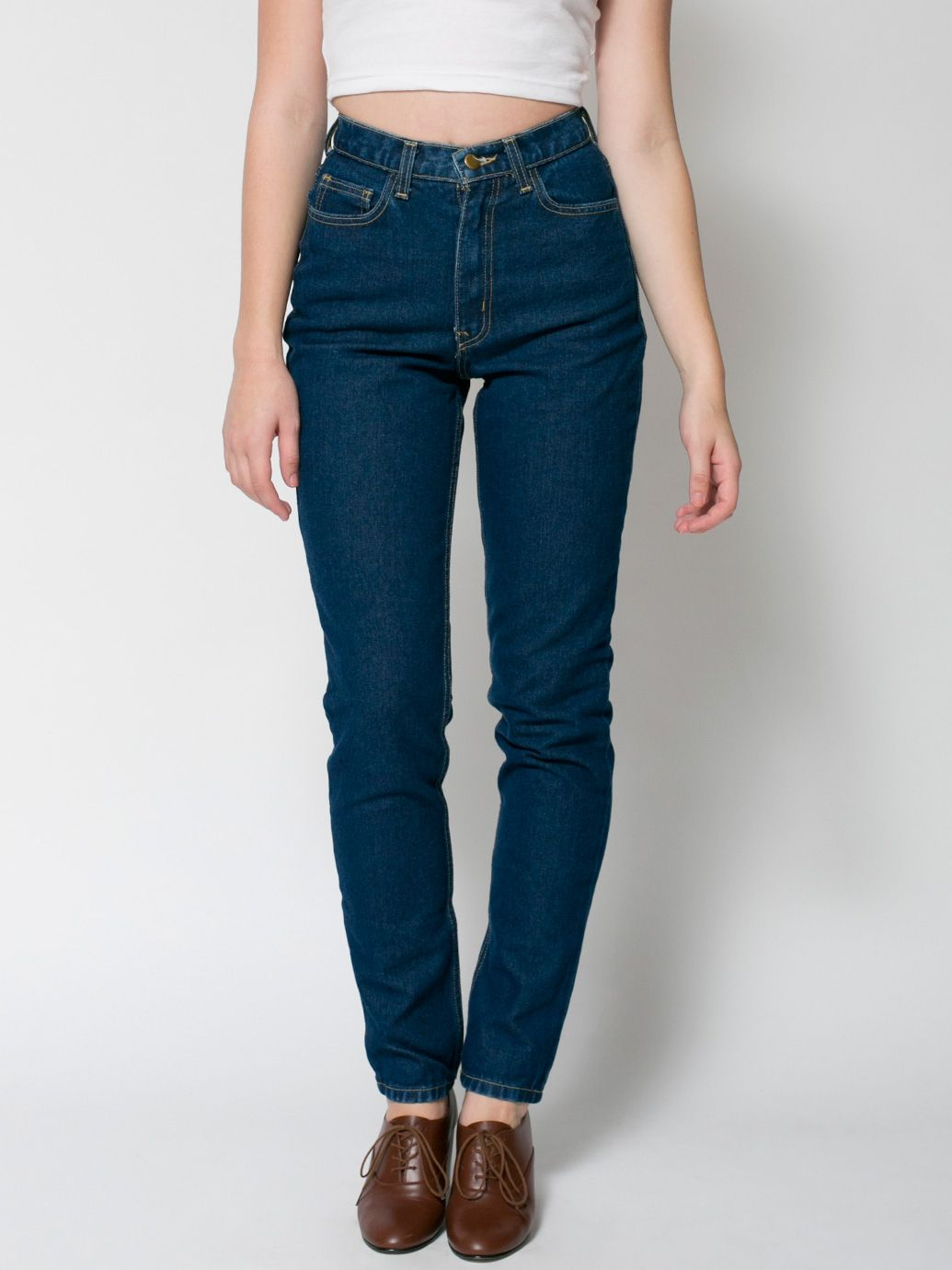 American Apparel high-waisted jeans in dark wash | Christmas Wish ...