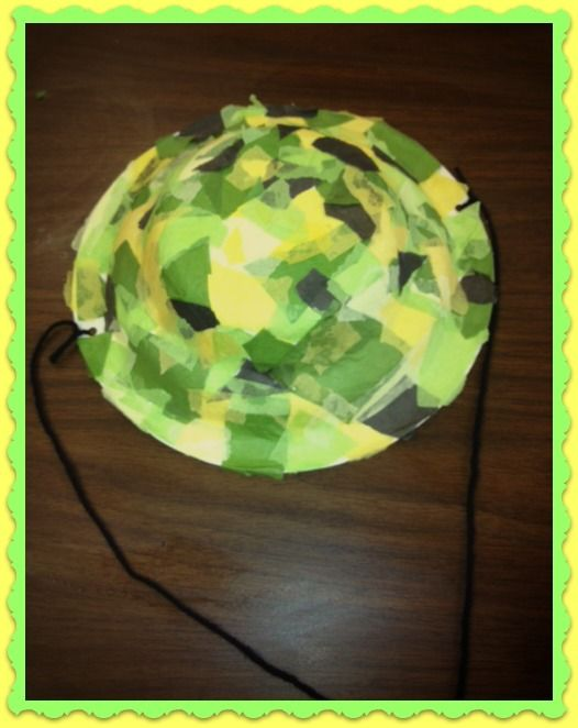 CRAFT Safari hat! Decorate plastic safari hat - punch hole and attach yarn for string. & CRAFT: Safari hat! Decorate plastic safari hat - punch hole and ...