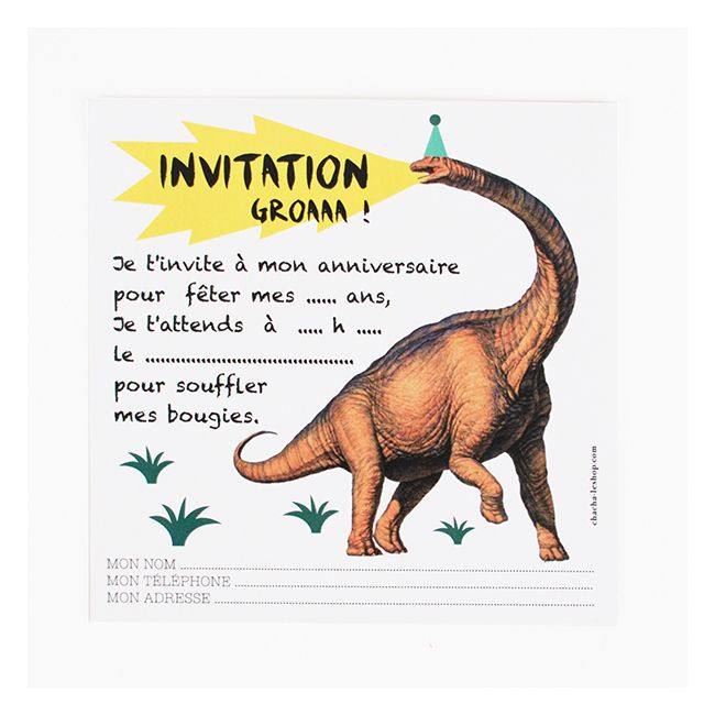 papeterie cartons d 39 invitation dinosaure anniversaire enfant invitati. Black Bedroom Furniture Sets. Home Design Ideas