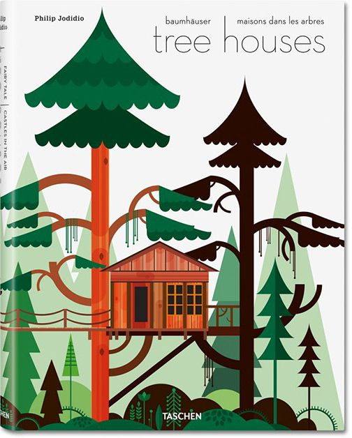 Cover illustration for a new book on tree houses.
