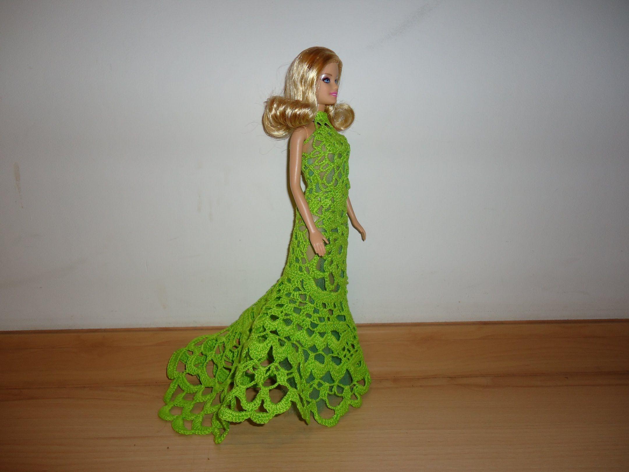 Ажурное вязаное крючком платье для куклы Барби | CROCHET ...