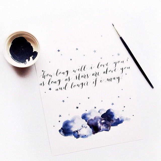 How long will i love you modern calligraphy by ffion