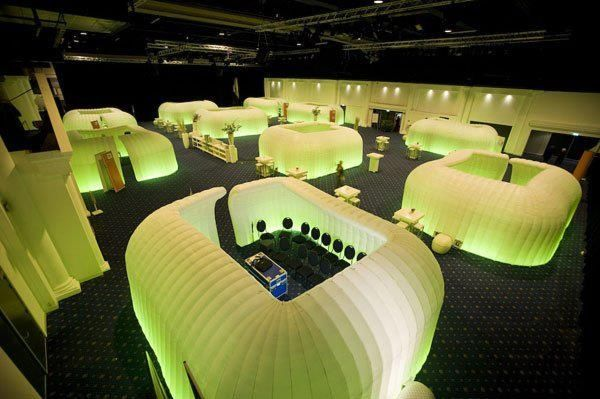 Rooms: Inflatable Pods With Coloured Mood Lighting Used As