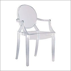 Charmant Queen Ann Lucite Chair