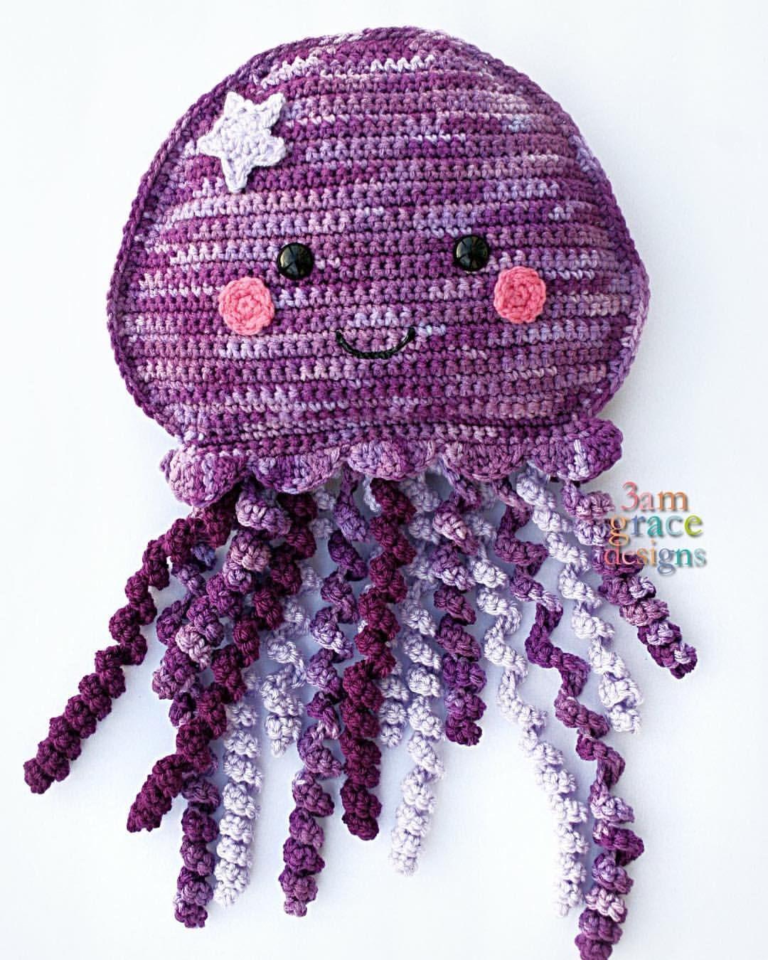 Free Jellyfish Crochet Pattern Amigurumi Kawaii Cuddler Ra