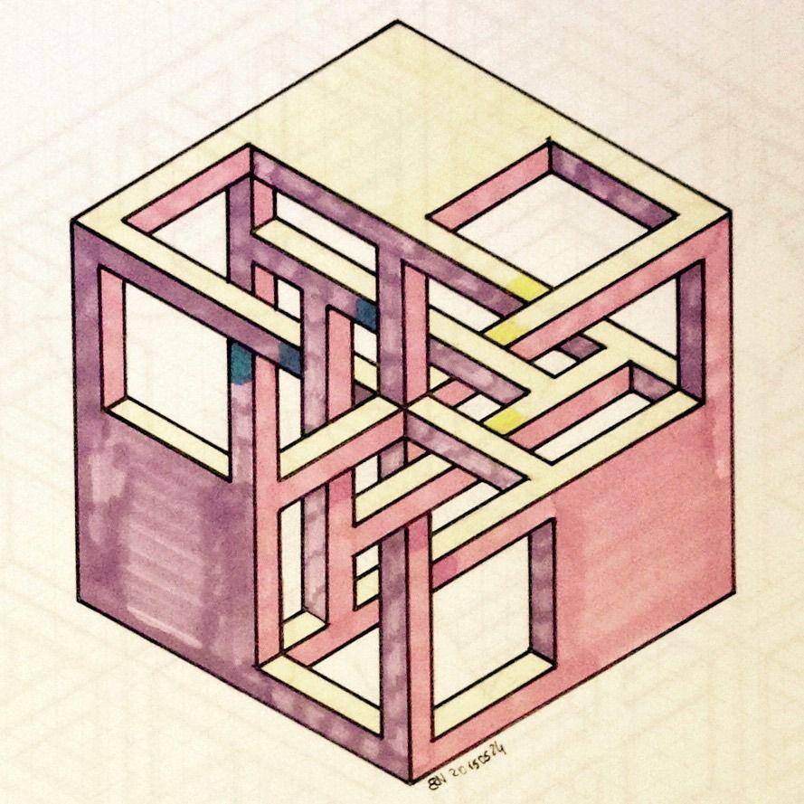 Impossible isometric penrosetriangle oscar reutersward for Geometric illusion art