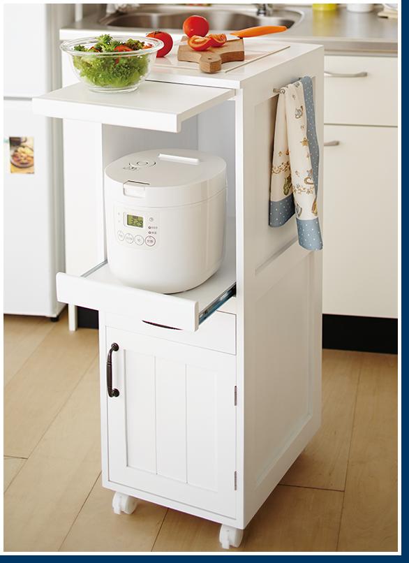 直送 炊飯器ワゴン インテリア 家具 収納 アイデア キッチン