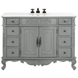 Home Decorators Collection Winslow 48 In W Vanity In Antique Grey
