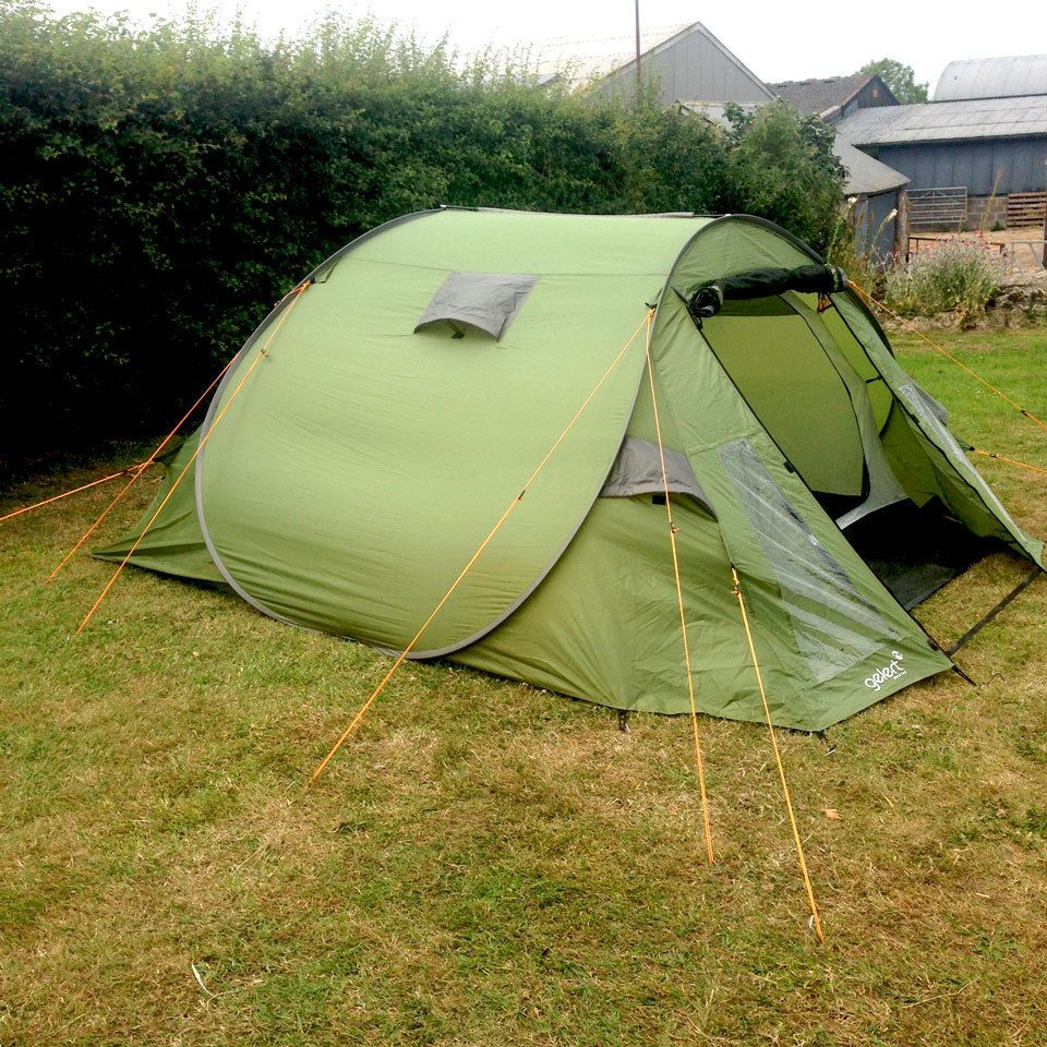 the latest acd6a 2952a Gelert 4 Man QuickPitch Popup Tent Family Camping Festival ...