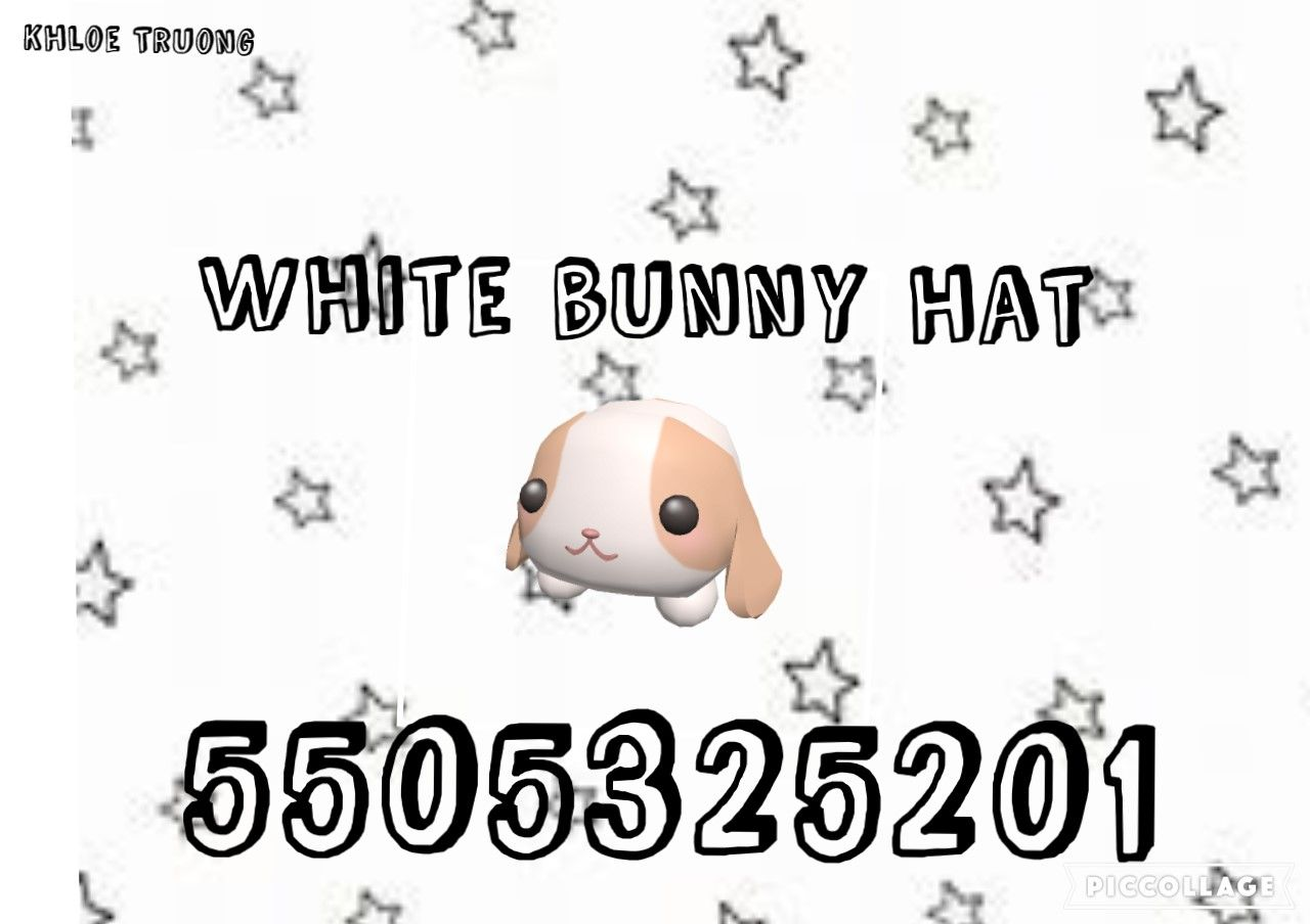 White Bunny Hat Code In 2020 Roblox Codes Roblox Memes Coding