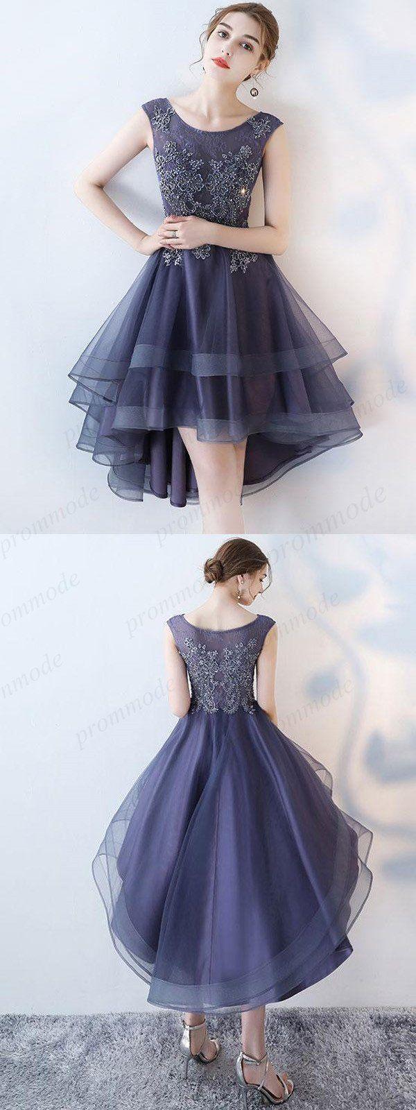 Purple hilo beaded lace homecoming dressesunique short prom