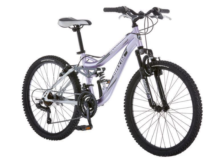 Bikes For Girls 24 Inch Mongoose Full Aluminum Suspension Frame