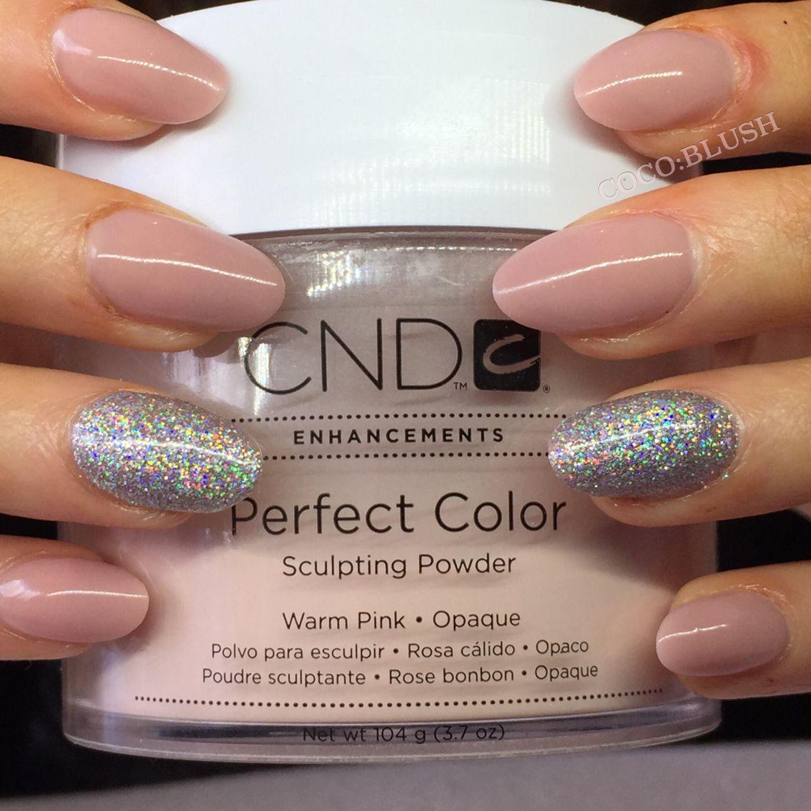 Acrylic Nails Nude Sculpted Cnd Lecenté Glitter