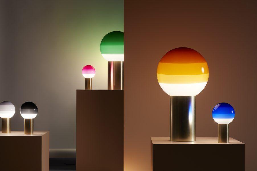 Lampe A Poser Dipping Light O 12 5 Cm Led En Laiton Par Jordi