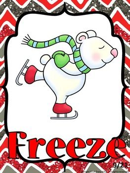 Christmas Freeze Dance and Creative Movement #danceandmovement