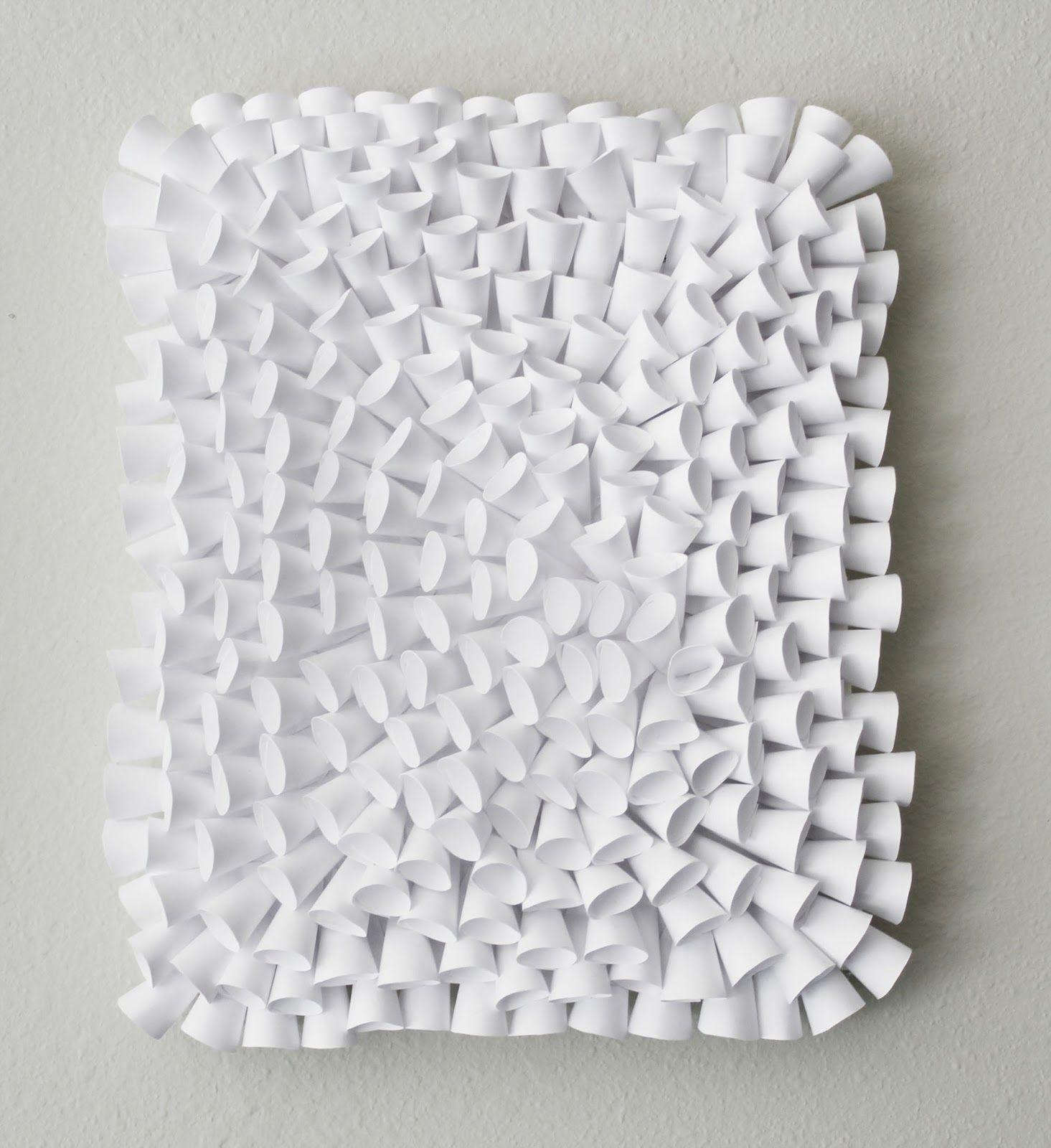 Paper Art Potpourri  Momichka White Paper Sculpture  Coral
