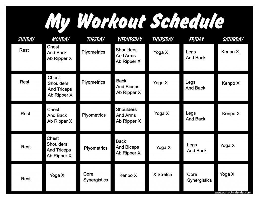 Pin On Workout Calendar