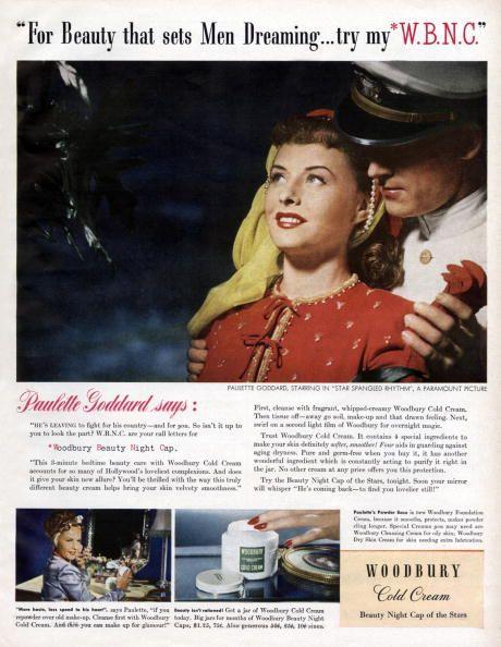 Paulette Goddard ad