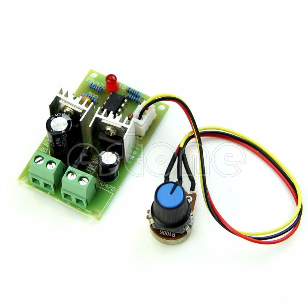 12V/24V/36V 3A DC Pulse Width PWM Motor Speed Regulator Controller ...